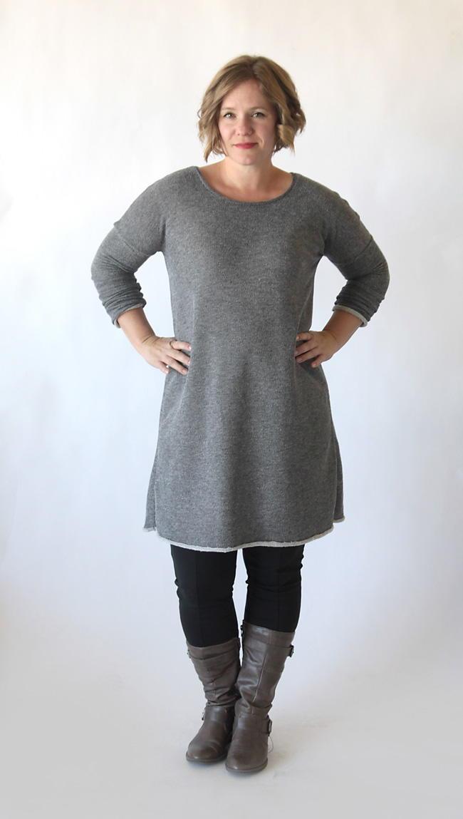 Flattering Sweater Dress Pattern