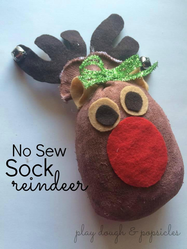 No Sew Sock Reindeer