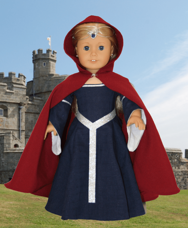 Medieval Doll Cape Sewing Pattern