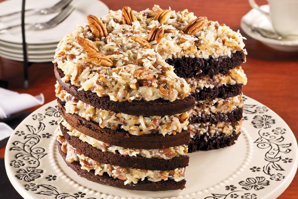 Sky High German Chocolate Cake Mrfood Com