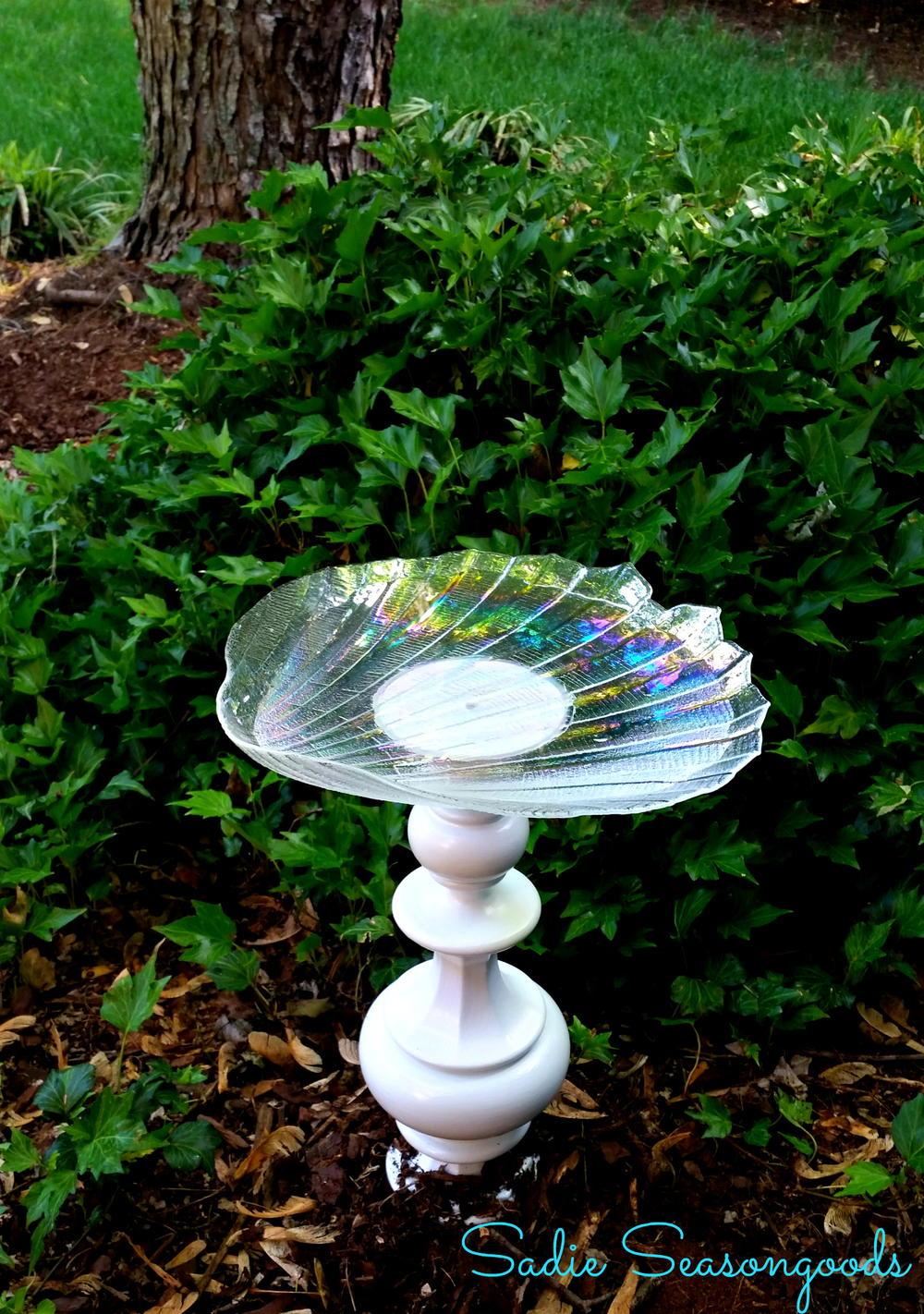 Bright Idea Recycled Birdbath