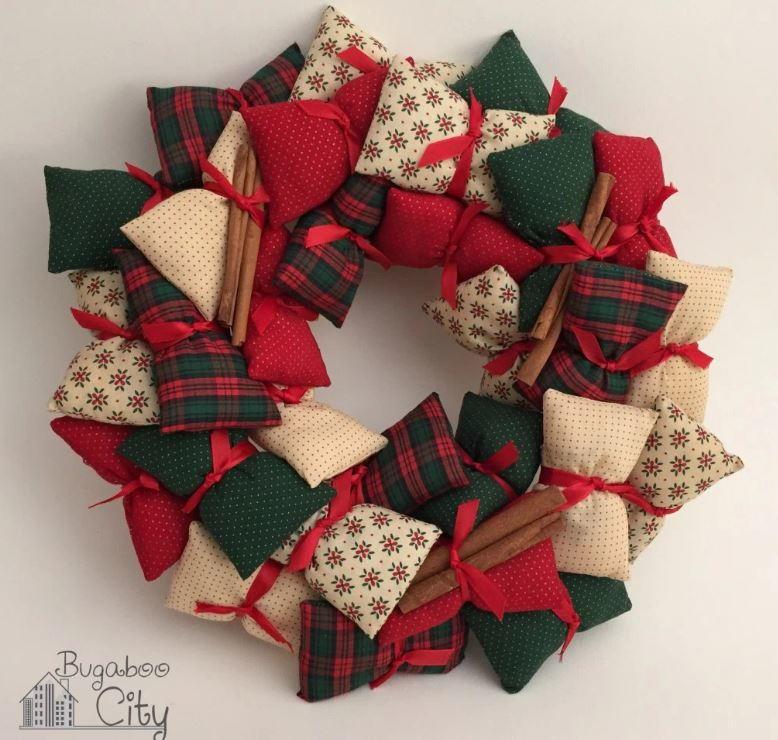 Mini Pillow DIY Wreath