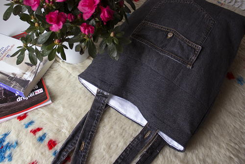 Upcycled Denim Tote Bag Allfreesewing Com
