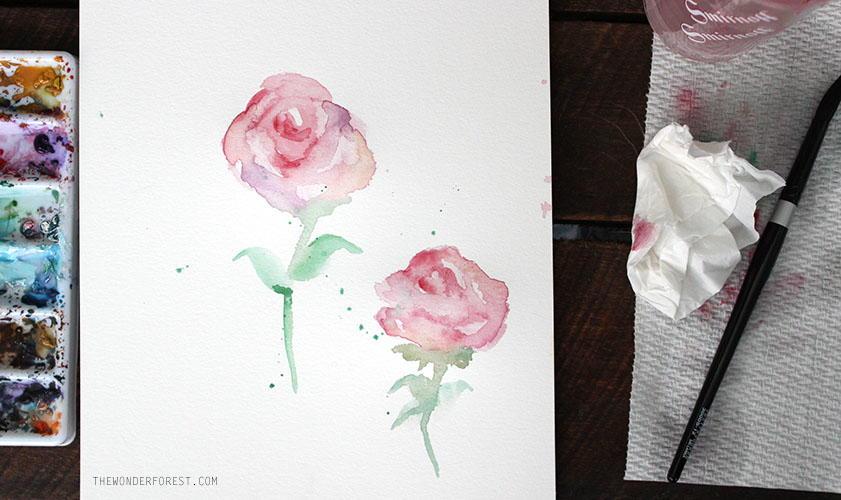Simple Watercolor Roses