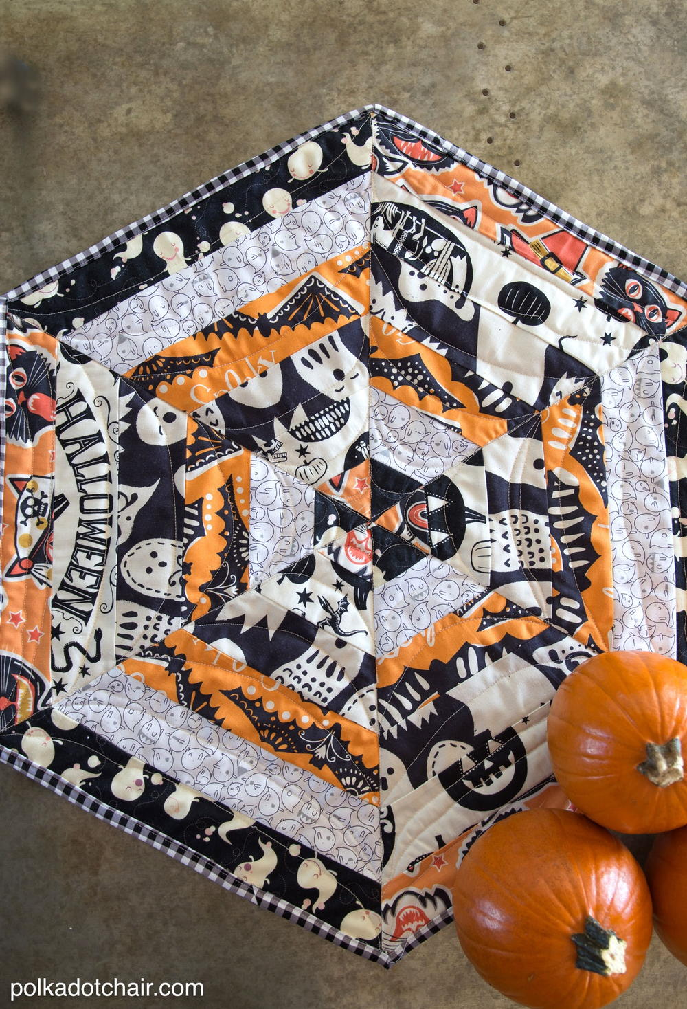 Haunted Halloween Table Topper Tutorial