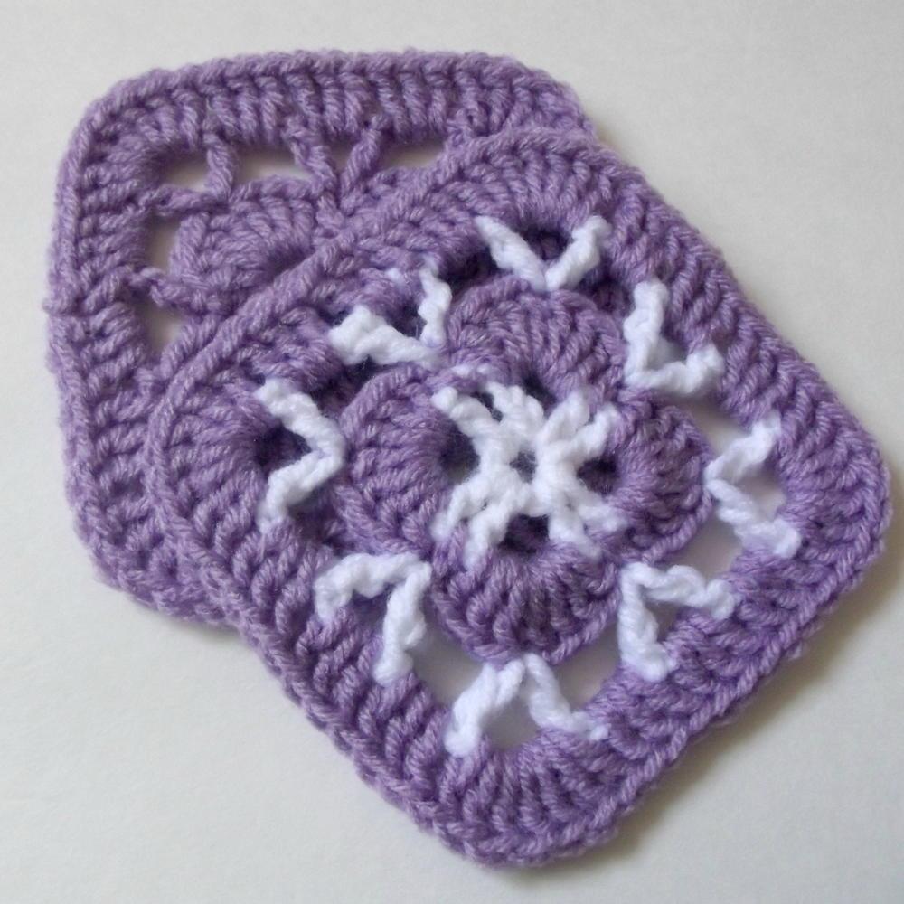 Easy 5 Crochet Afghan Square