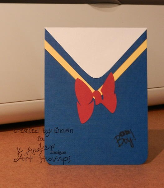 Donald Duck Handmade Birthday Card