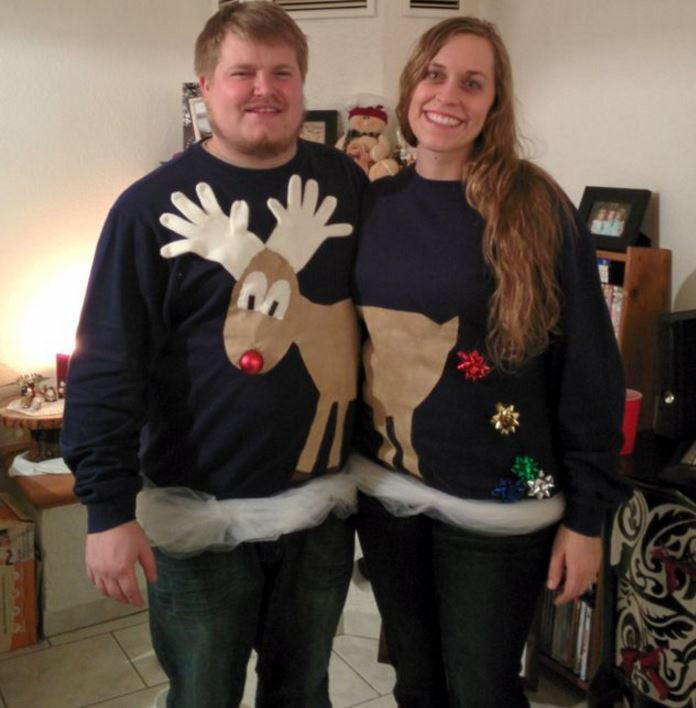 Reindeer Couples Ugly Sweater Idea