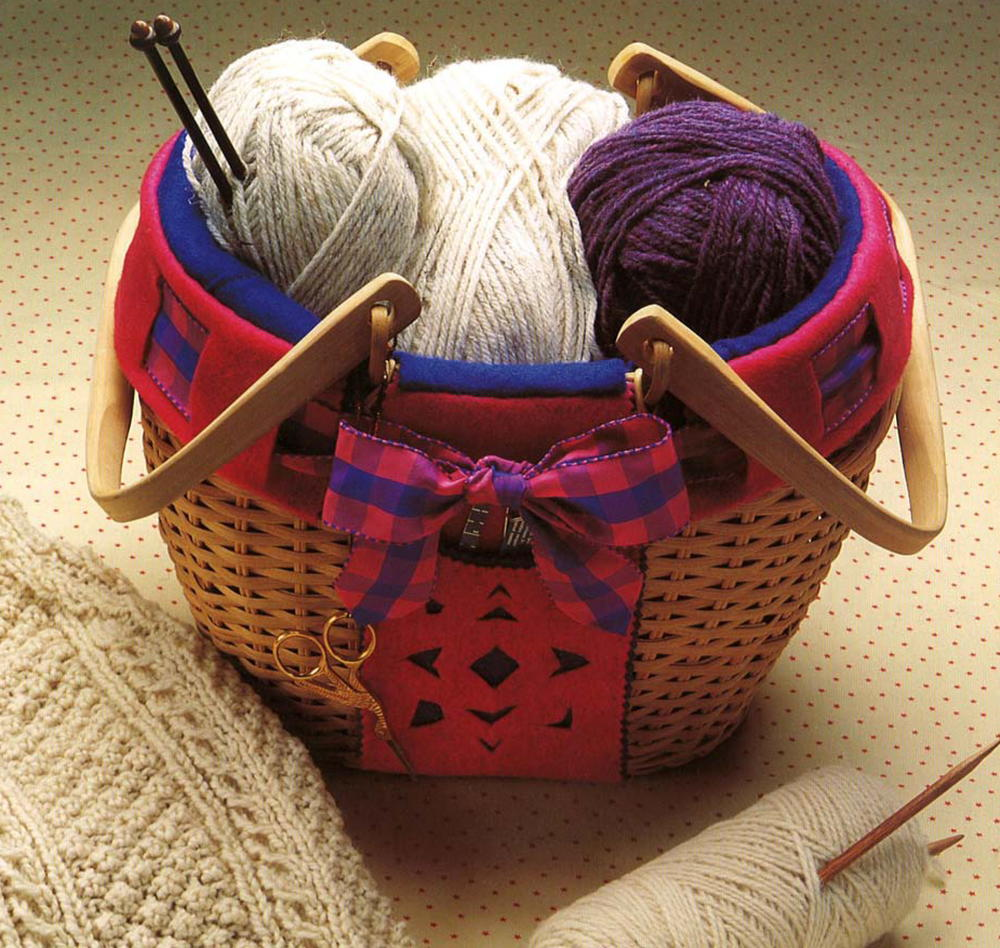 Cozy Knitting Basket Pattern