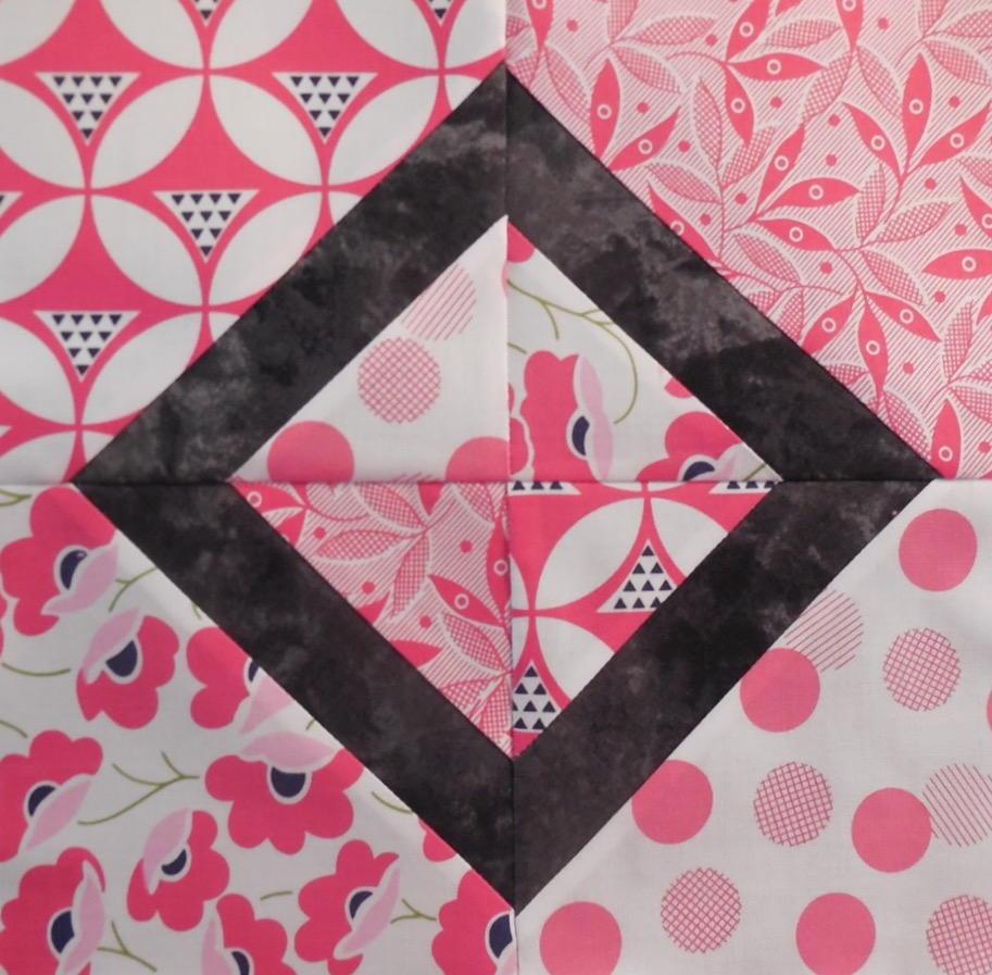 Pink Diamond Quilt Block Favequilts Com