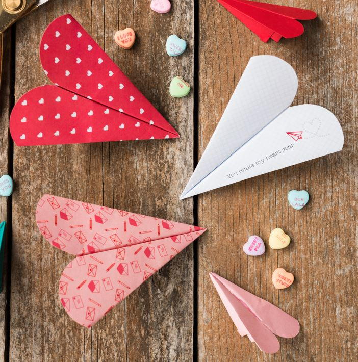 Free Printable Heart Paper Airplanes