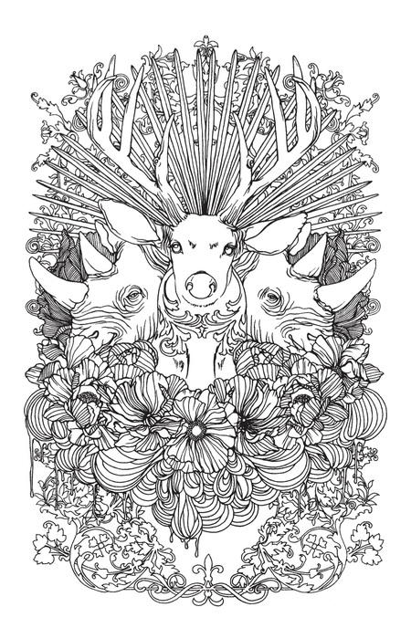Stunning Wild Animals Coloring Page | FaveCrafts.com | free online coloring pages for adults animals