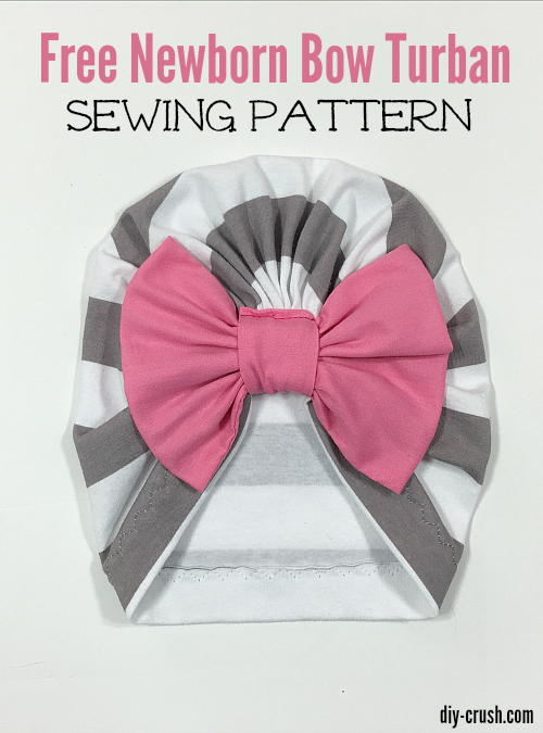 Baby Bow Turban Beanie Sewing Pattern