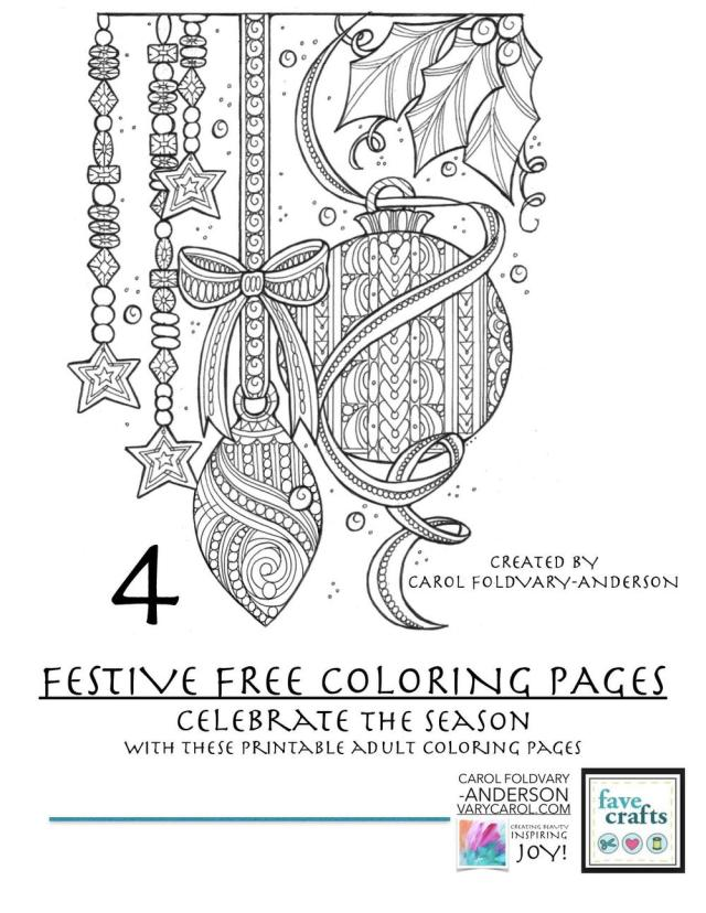 25 Festive & Free Holiday Coloring Pages for Adults [PDF