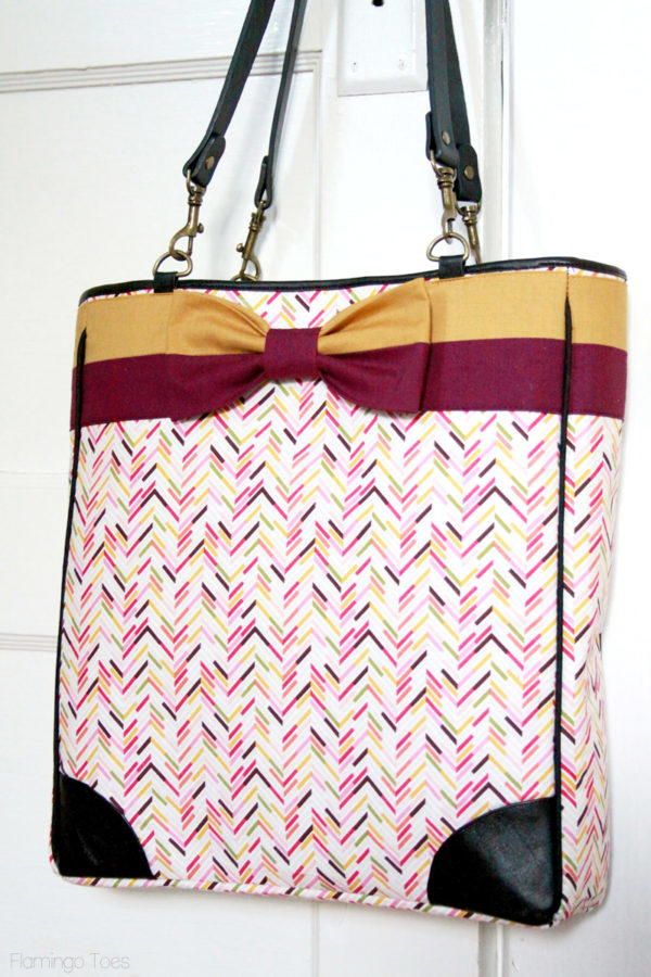 Kate Spade Inspired Bow Tote Tutorial