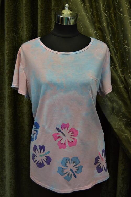 Hibiscus Pastel DIY Tie Dye Shirt