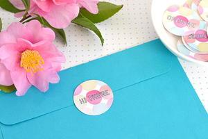 Polka Dot Printable Envelope Seals Allfreepapercrafts Com