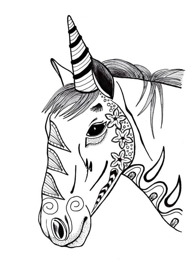 Unicorn Coloring Page (PDF Download)  FaveCrafts.com