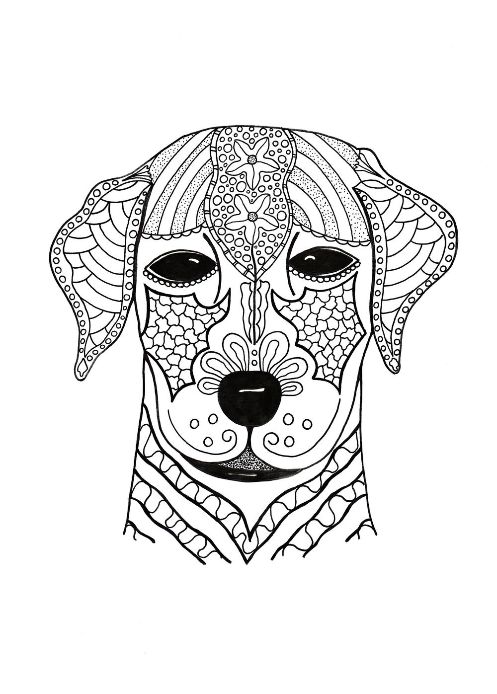 I Woof You Adult Coloring Page   FaveCrafts.com   colouring pages animals hard