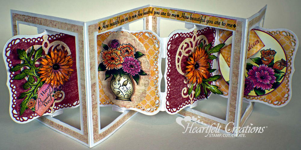 Beautiful Blooms Accordion Fold Card