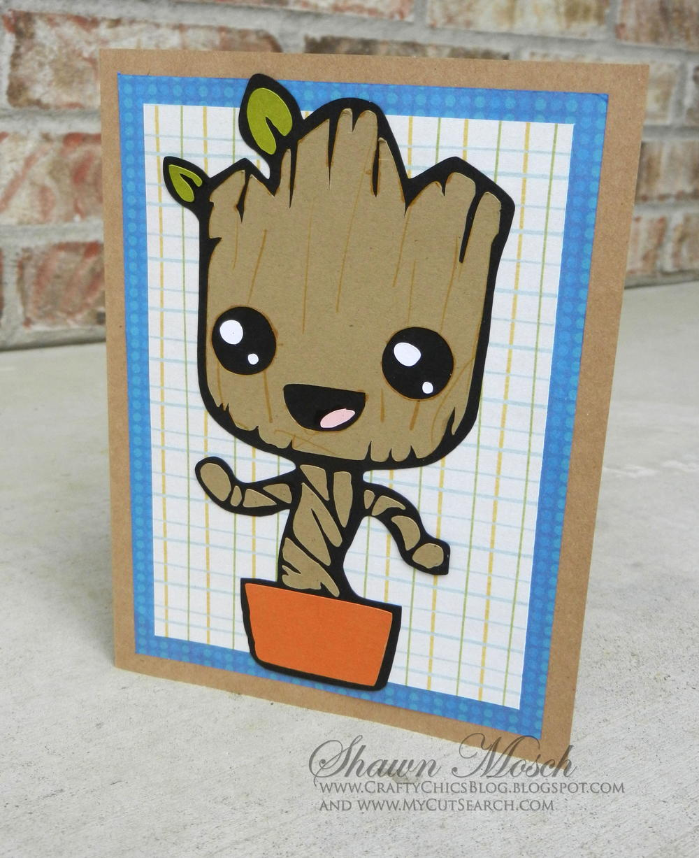 I Am Groot Birthday Card