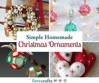 80 Simple Homemade Christmas Ornaments Favecrafts Com