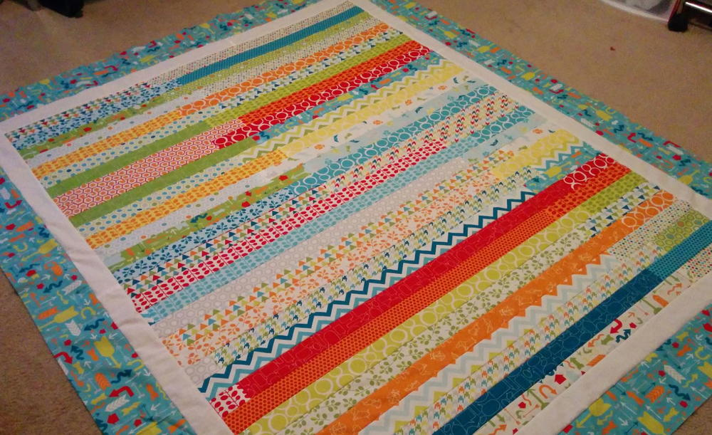 Mixed Bag Jelly Roll Race Quilt Favequilts Com