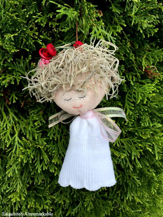 Sweet Sock Angel Ornament