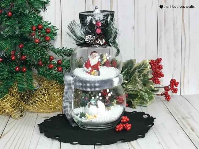 Dollar Store Snow Globe Christmas Decoration