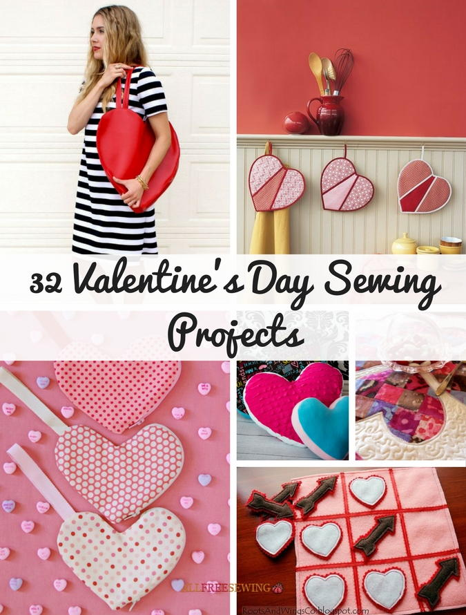 32 Valentines Day Sewing Projects