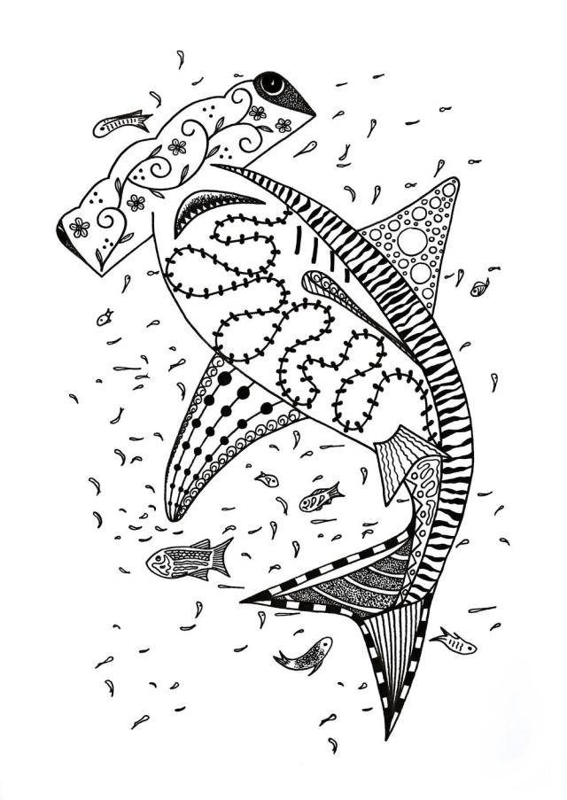 Hammerhead Shark Coloring Page  FaveCrafts.com