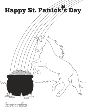Unicorn St Patrick S Day Coloring Page Favecrafts Com