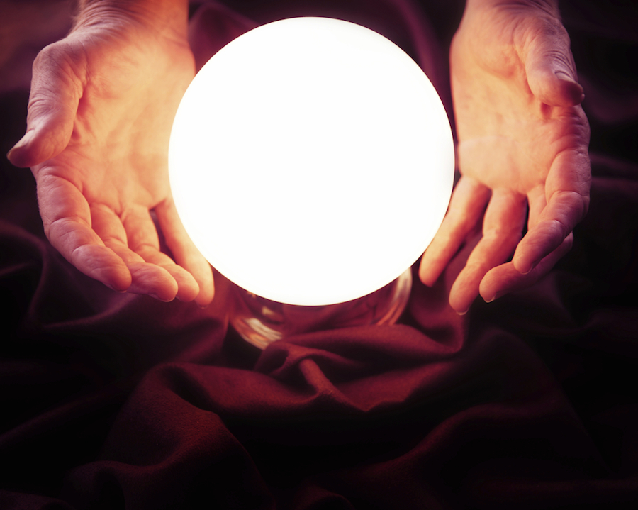 looking into a crystal ball
