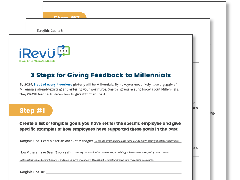 millennial feedback mockup