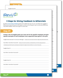 3 Steps For Giving Feedback To Millennials Mockup