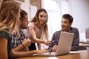 tech team around computer