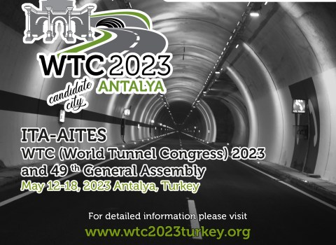 Turkish Road Association (TRA) candidate for hosting the World Tunnel Congress 2023 in Antalya / Turkey