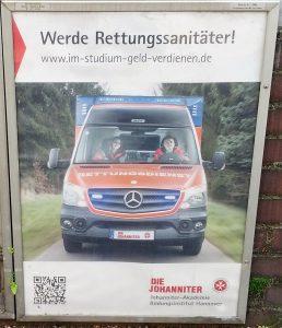 Plakat Rettungssanitäter ohne SEO