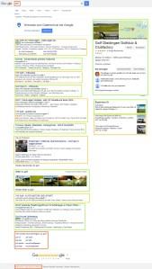 """Suchergebnisse bei Google zu """"Golf"""" Screenshot"""