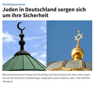 Titel, Deutschlandfunk 14.10.2015: Juden in Deutschland sorgen sich um Ihre Sicherheit.