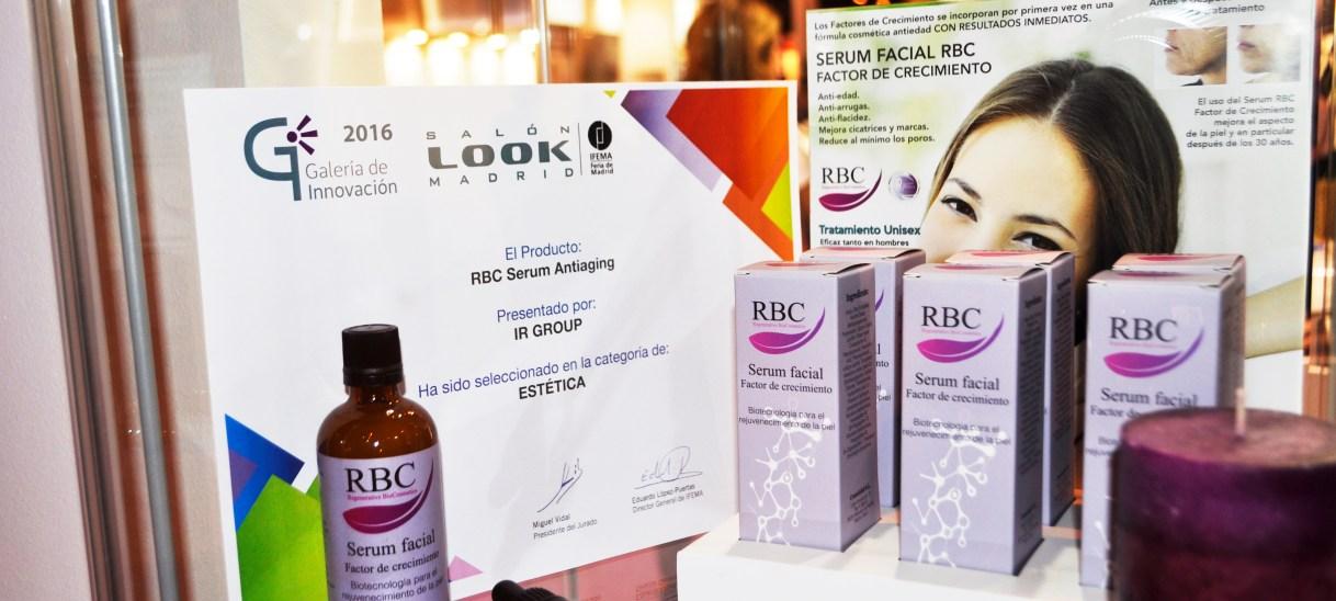 Los serums RBC premiados en la galería de innovación de Salón Look 2016