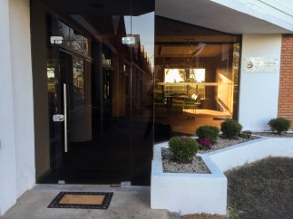 Entrance of the new IRI office in Uruguay.