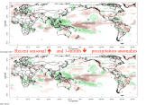 Recent precipitation anomalies, from the IRI Data Library.