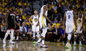 Warriors star Kevin Durant out indefinitely with calf strain