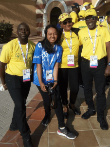 Jamaica's Special Olympians paint Dubai and Abu Dhabi Black Green and Gold