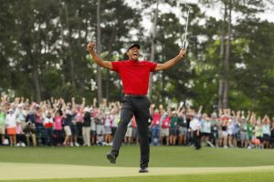 Tiger Woods is a Masters champion for the fifth time in his career