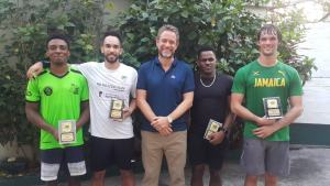 Squash stalwarts Lewis Walters and Bruce Burrowes to represent Jamaica at the 2019 Pan American Games