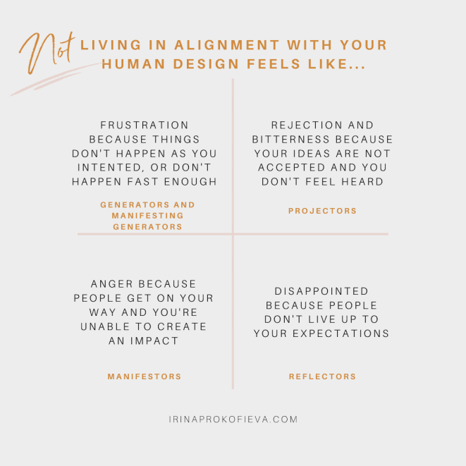 Not living in alignment with your Human Design