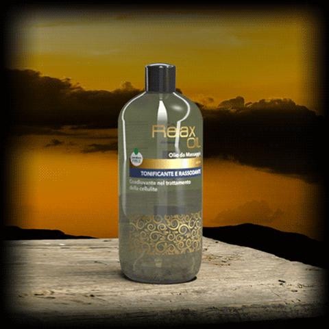 Relax OIL - Olio per massaggio GOLD - TONIFICANTE E RASSODANTE