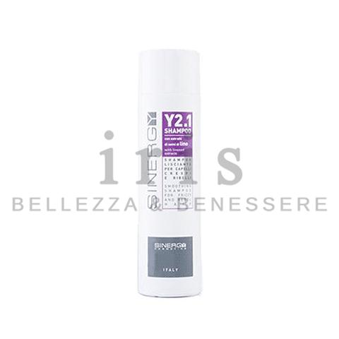 Sinergy Y2.1 - Shampoo lisciante per capelli crespi e ribelli